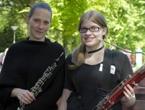 Oboe und Forget pardon Fagott