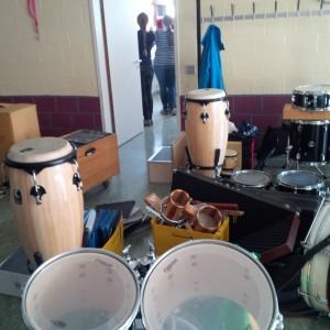 Viel Platz für Perkussion...